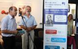Alföldi István, az NJSZT ügyvezető igazgatója és Nagy Károly magángyűjtő a Mentsük, ami menthető kiállítás megnyitóján, 2018. szeptember 10-én. Fotó: NJSZT